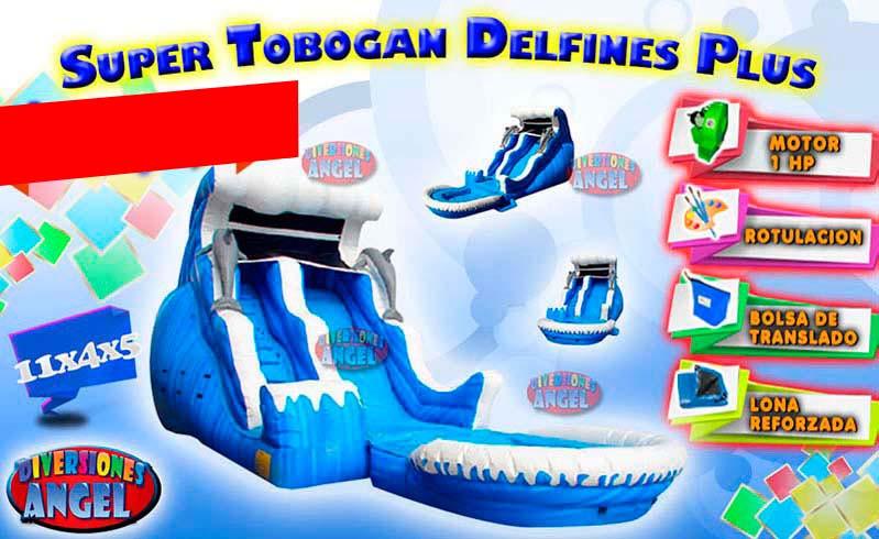 Venta De Brincolines Inflables Super Tobogan Delfines Plus Venta De